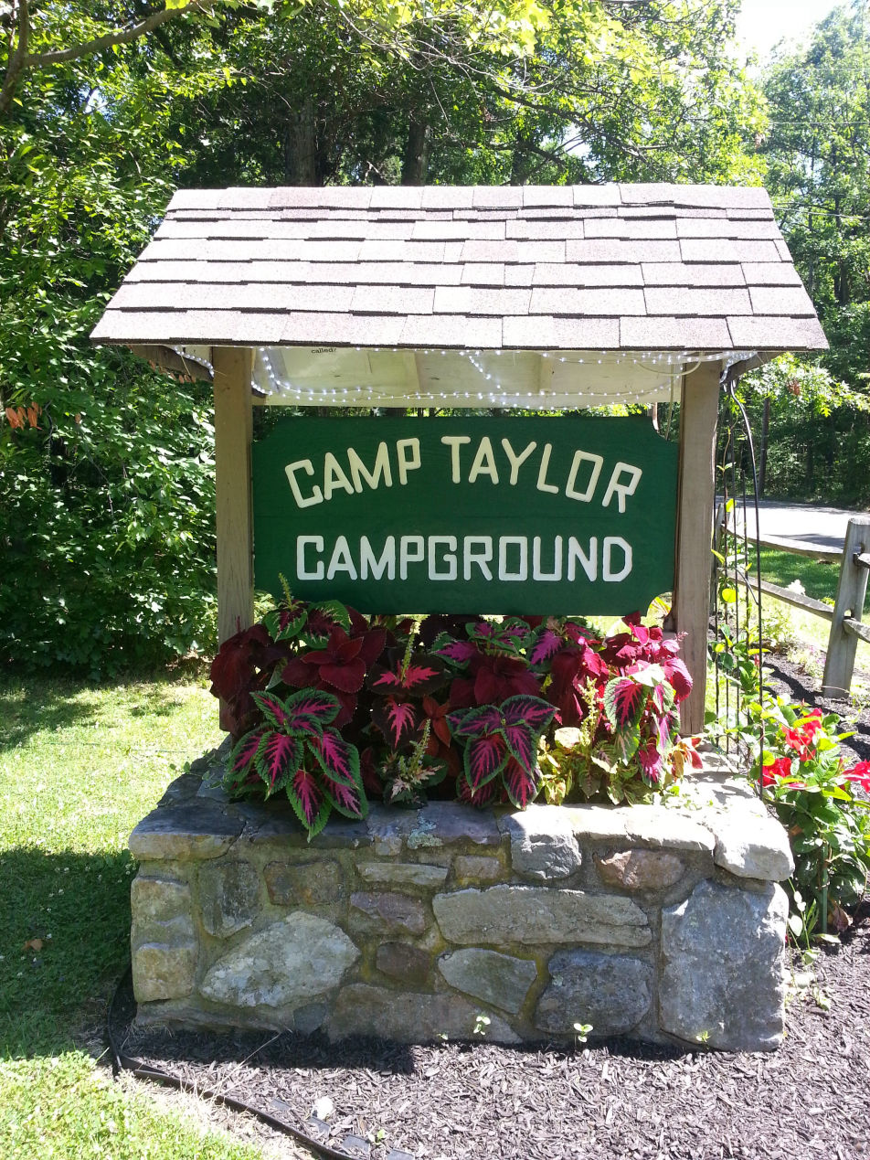 Camp Taylor Sign